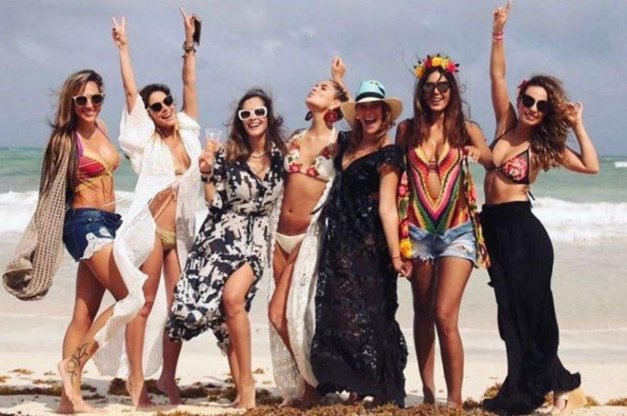 Matrimonio Catolico Laura Tobon : Varias famosas estuvieron en fiesta de playa previa a