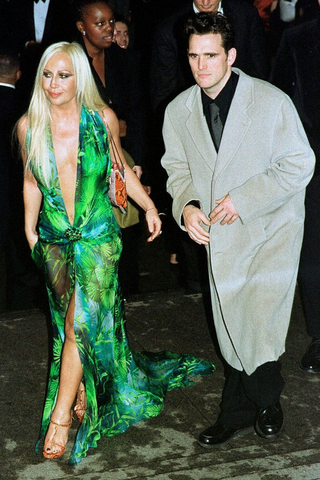 almost a year before jlo wore that dress to the grammys donatella versace