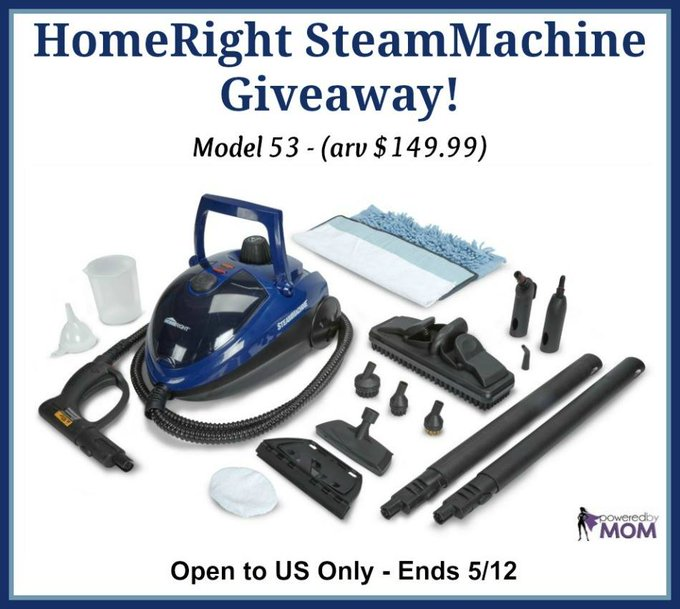 HomeRight SteamMachine Giveaway (arv $149.99)-1-US-Ends 5/12