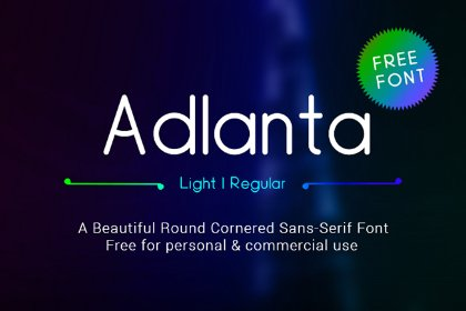 Adlanta Sans Free Typeface Freebies FreeResources FreeDownload