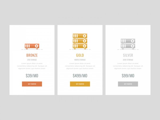 Simple Pricing Table UI Design Free PSD LayeredPSD freepsd psd freebie download