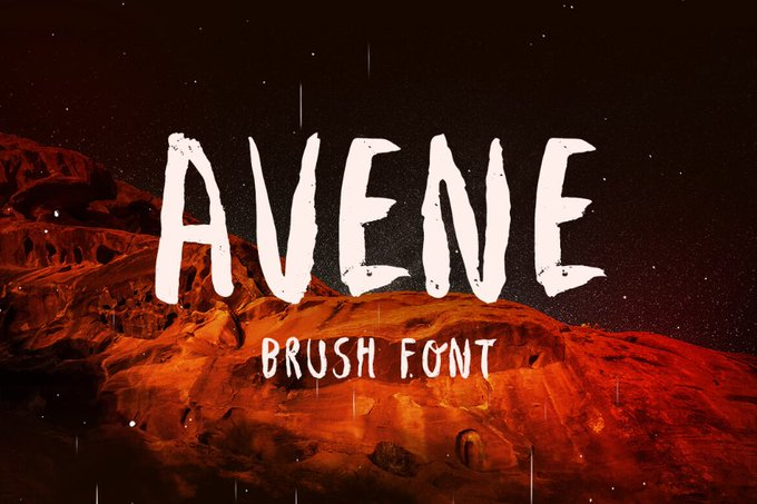 Avene Brush Free Typeface Freebies FreeResources FreeDownload