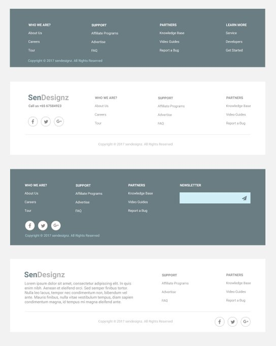 Footer Design PSD footerdesign psd freebies