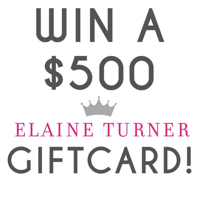 Elaine Turner $500 Gift Card Giveaway!