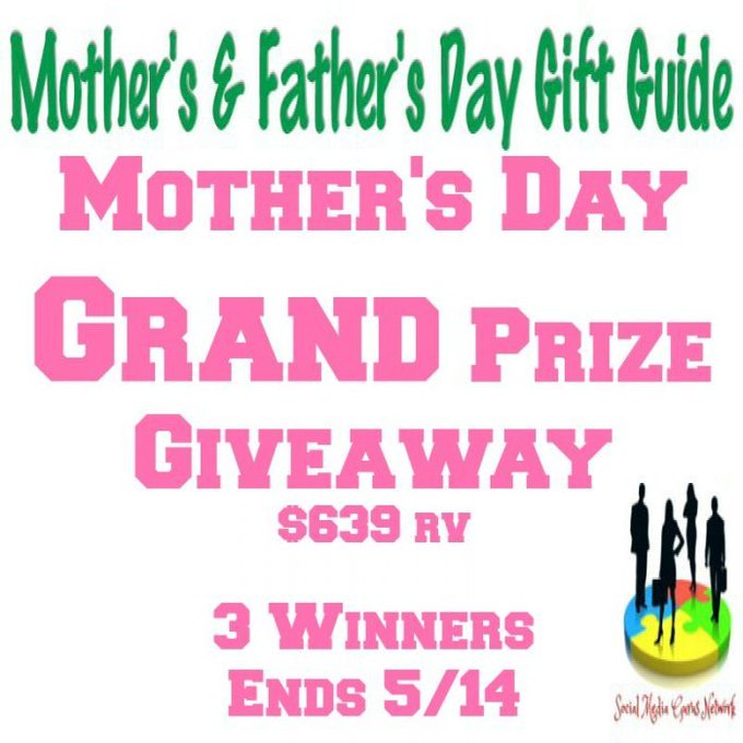 Mother's Day Grand Prize Giveaway Ends 5/14 @SMGurusNetwork
