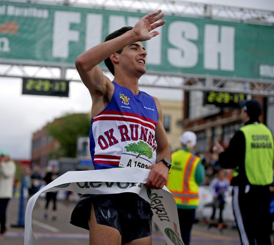 Arya Bahreini claims men's marathon title