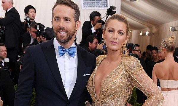 Spotted: Blake Lively and Ryan Reynolds looking golden on the MetGala carpet.