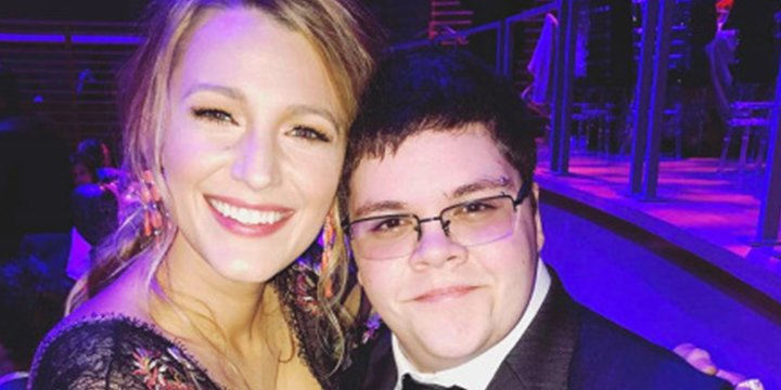 Blake Lively shares a photo with 'real life hero' Gavin Grimm at the TIME100 Gala