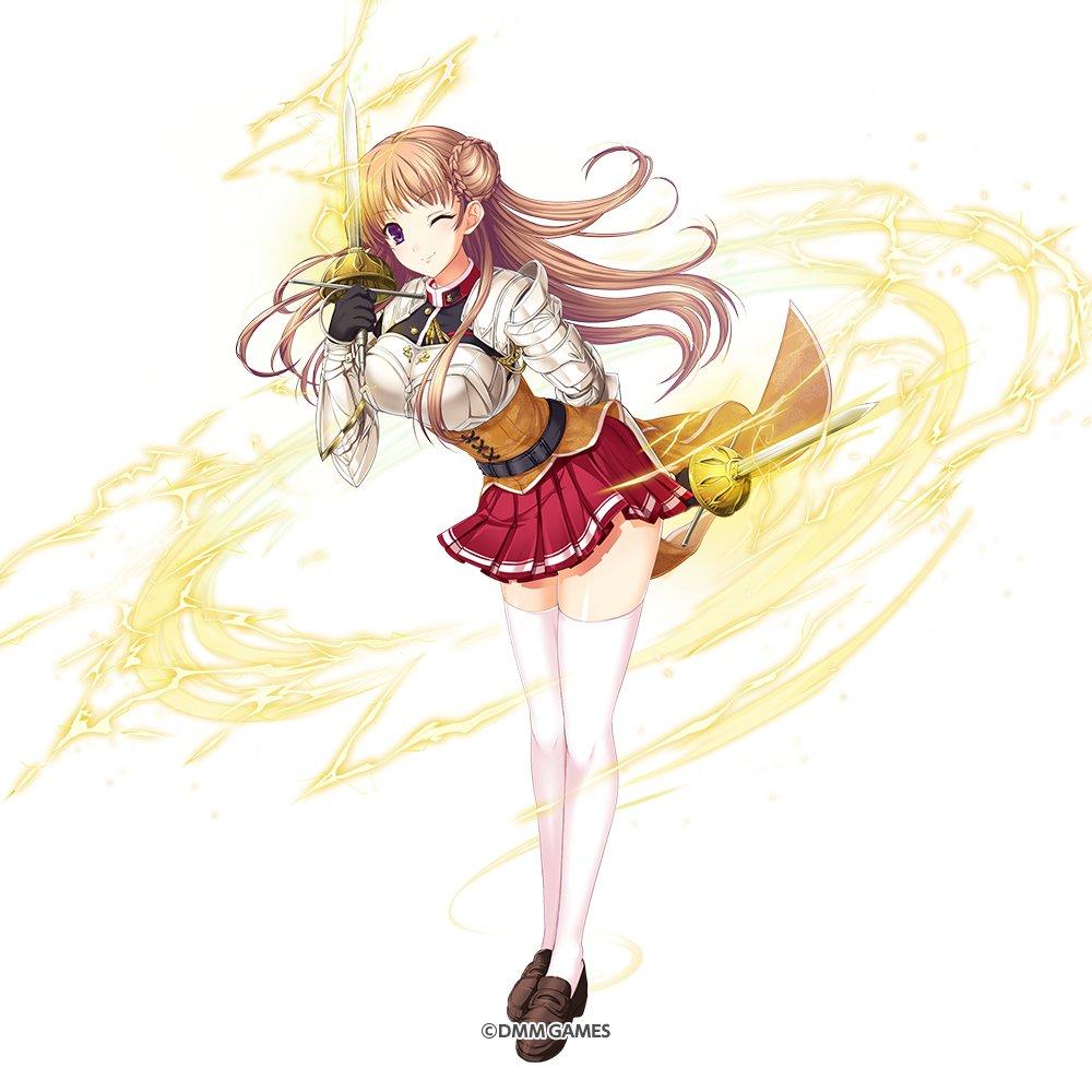 最後に開催中のイベントで入手できる神姫『SR ノエル』の紹介じゃ!明るく人懐こい侯爵家令嬢じゃ『ジョスト』は練習熱心で、