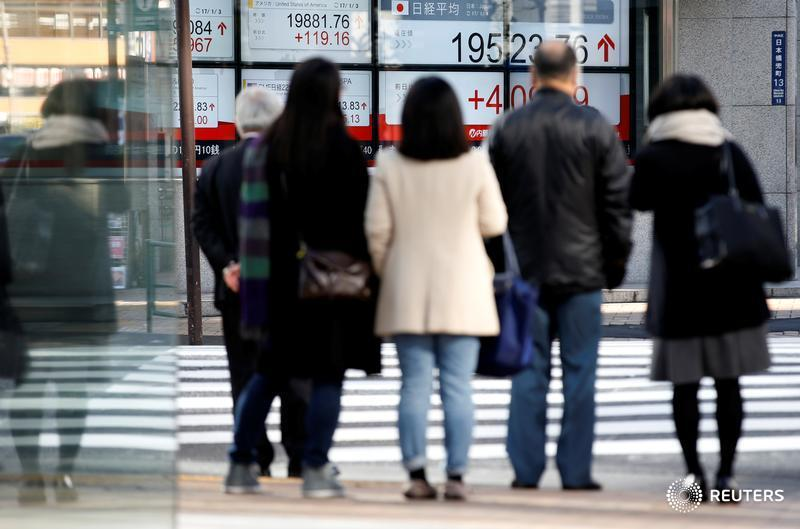Hi-tech leads Asia shares near two-year high despite soft China, U.S. data