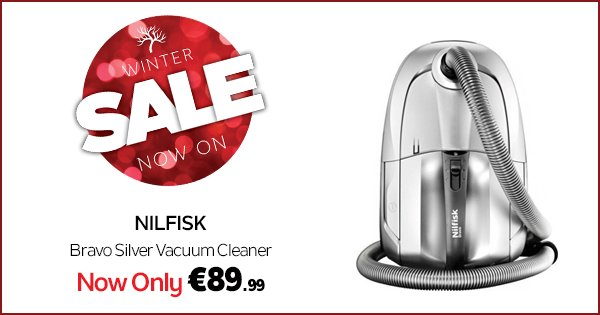 Save €110 on the Nilfisk Bravo vac with an XL dust bag and 1600 watts suction! #WinterSale https://t.co/vDk2u06fdb https://t.co/3ubR23XAxz