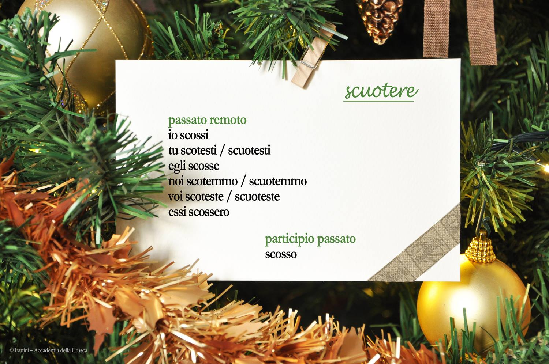 Per Natale la Crusca regala verbi irregolari, difettivi, difficili! Le cartoline che stiamo pubblicando su FB ora anche su TW. 1: SCUOTERE https://t.co/Mq1Ch2wv7L