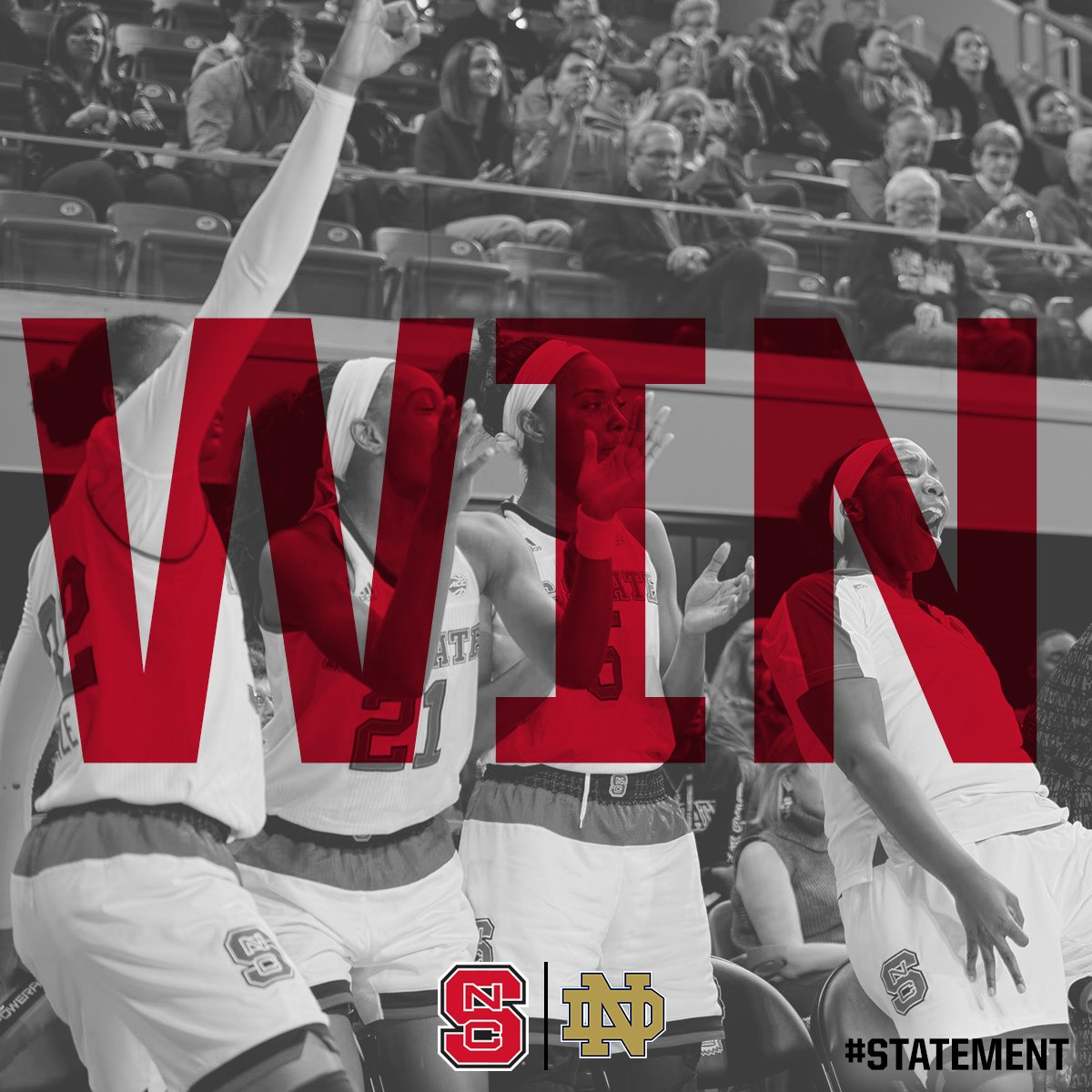 FINAL SCORE FROM RALEIGH:   Us - 70 No. 2 Notre Dame - 62  Let's go!! Thank you, #WPN!!! https://t.co/YbloG73UE6