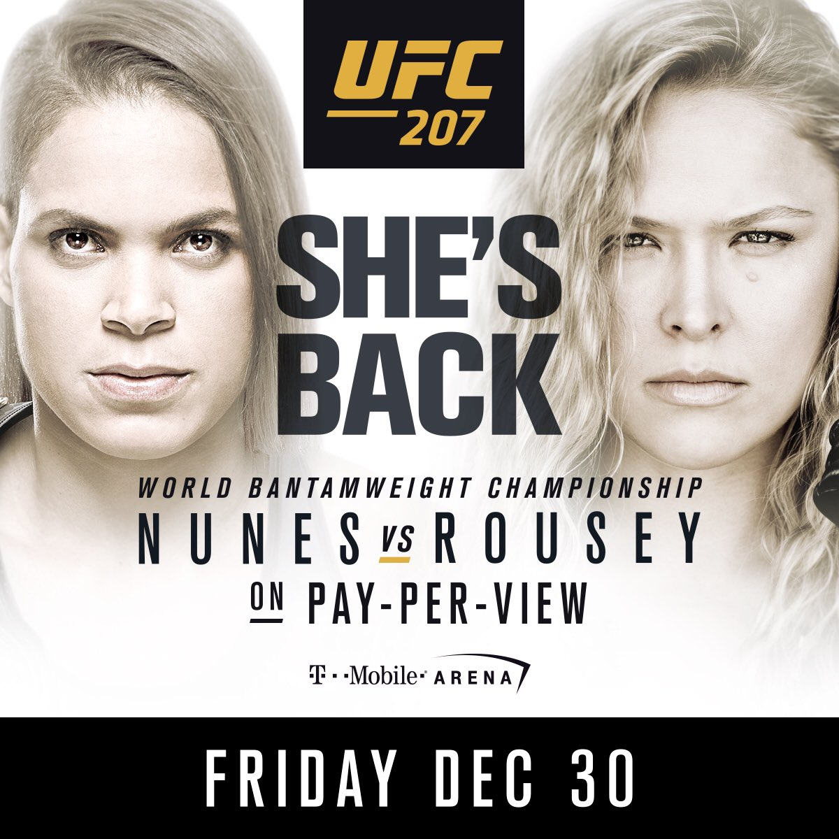 It's a girls night!! @Amanda_Leoa & @RondaRousey! This Friday Dec30!  #UFC207 https://t.co/1PGGPvaxvl