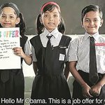Obama's little fans in Mumbai have a job offer: 'Come, become ourteacher'