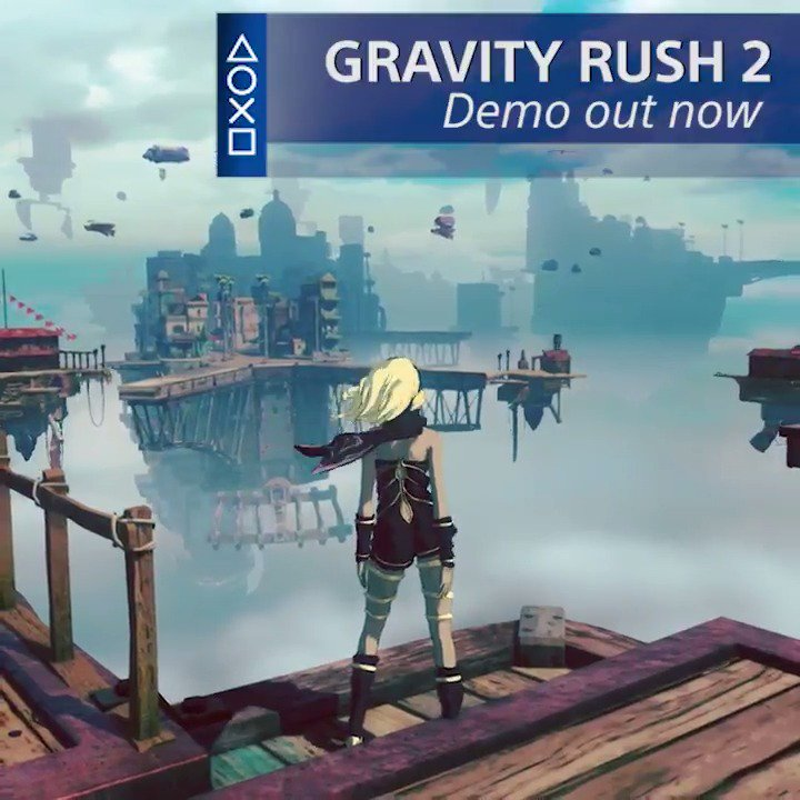 Get ready for Gravity Rush 2! The demo is live right now at PlayStation Store: https://t.co/ql51Tm7dhN https://t.co/I828YnGWJ4
