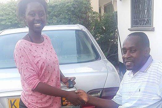 Former NTV editor rewards daughter with sleek car for good KCSE results