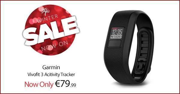 Get ahead of the New Year's resolutions with the Garmin Vivofit 3 fit tracker! https://t.co/YJaSpl1OE6 #WinterSale https://t.co/QbKxAHGU61