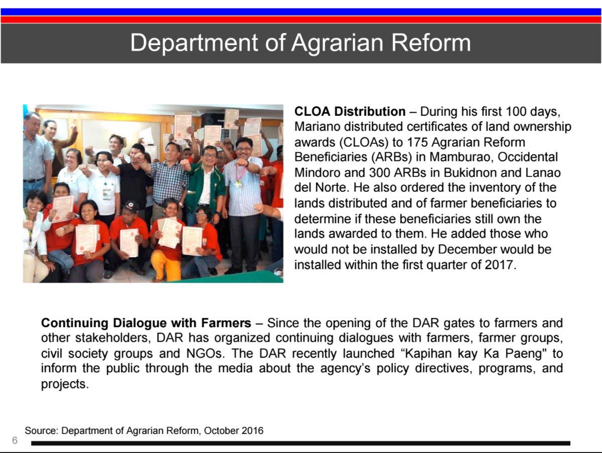 the duterte administration s key accomplishments in agrarian the duterte administration s key accomplishments in agrarian reform 2nd part