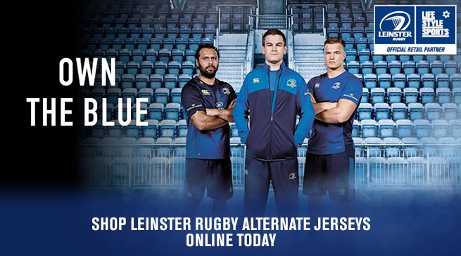 Make sure you've got your blue on. Head over to our RDS store to pick up all your @LeinsterRugby needs #LEIvULS https://t.co/mfY8KxLfML