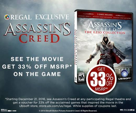 See @AssassinsMovie at Regal & get 33% off of the game that inspired the movie! Learn more: https://t.co/KphNg43cSi https://t.co/DylntEf5AG
