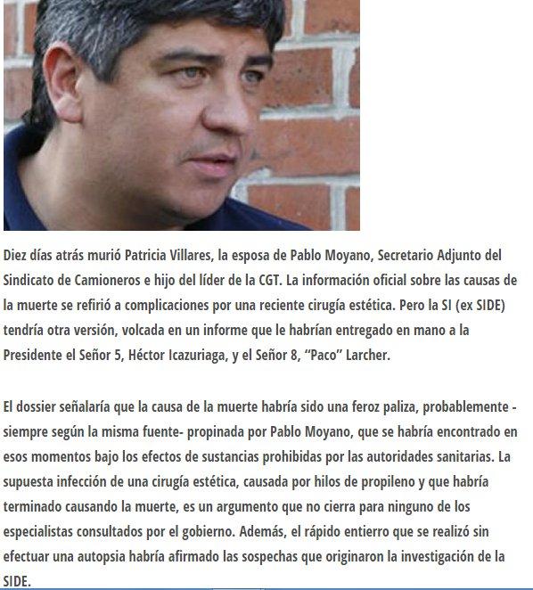 Pablo Moyano Pensé que era TT porque se habia esclarecido la muerte de su mujer en 2010. Ah, no? #Memoria