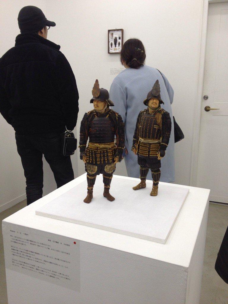 ギャラリー玉英は常に高い注目を集める野口哲也展が開催中。アートフェアでは度々作品を見ていましたが、個展を見るのは美術館も含めて初めて。ウィットに富んだコンセプトには「超絶技巧」「小さな侍」という枠組みを超えた楽しみがあります。 https://t.co/GVVKdIsb7r