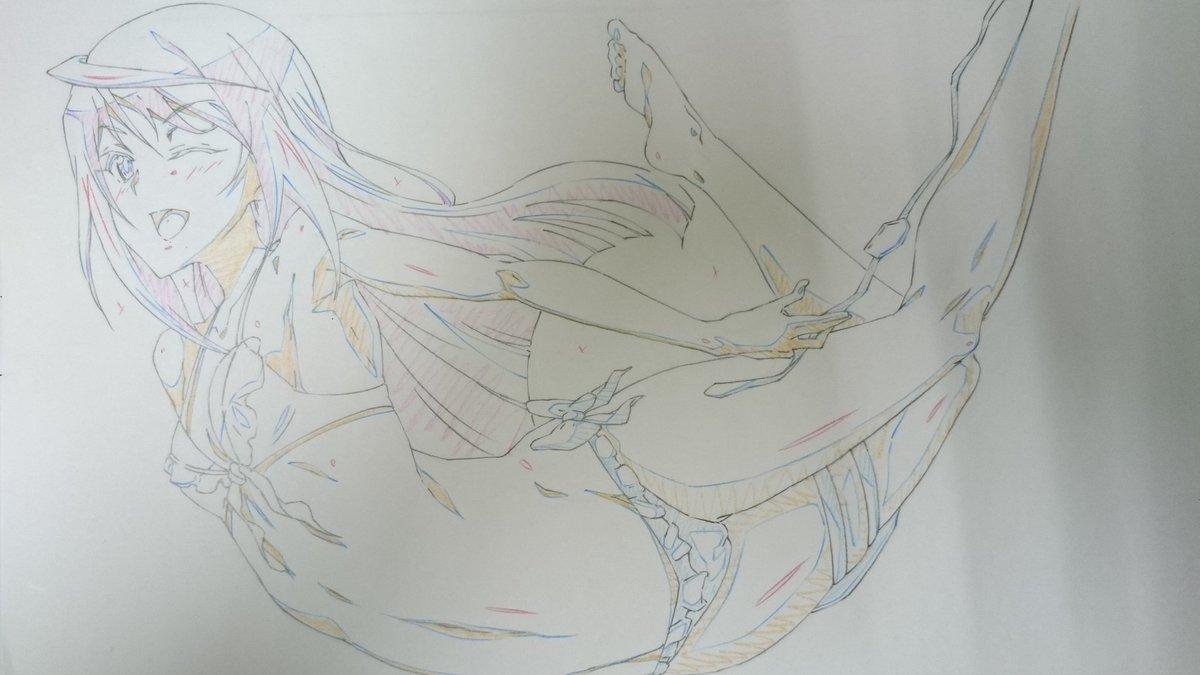 同人のゲストっぽいアレでインフィニットストラトスってアニメのラウラとかいうキャラを描きまんた。冬なのに水着っていうミス!