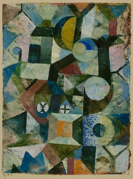 Paul Klee ~ 'Composition with the Yellow Half-Moon and the Y' (1918)  via @lrnbo @LuciaBorrallo #art #arte #twitart