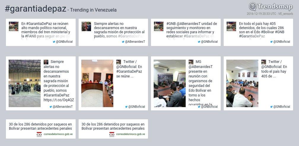 #garantiadepaz es ahora una tendencia en Venezuela  https://t.co/WOvyTYc4xh https://t.co/AVQ0o4bIVw