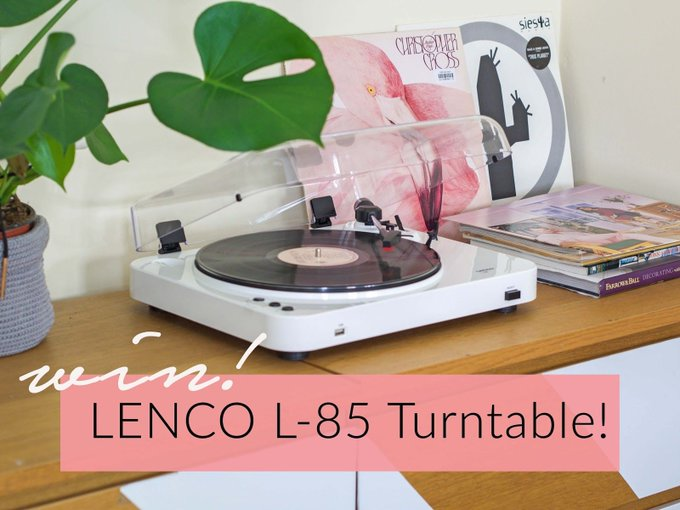 A Retro style yet modern sound of Lenco L-85 Turntable plus Win One!