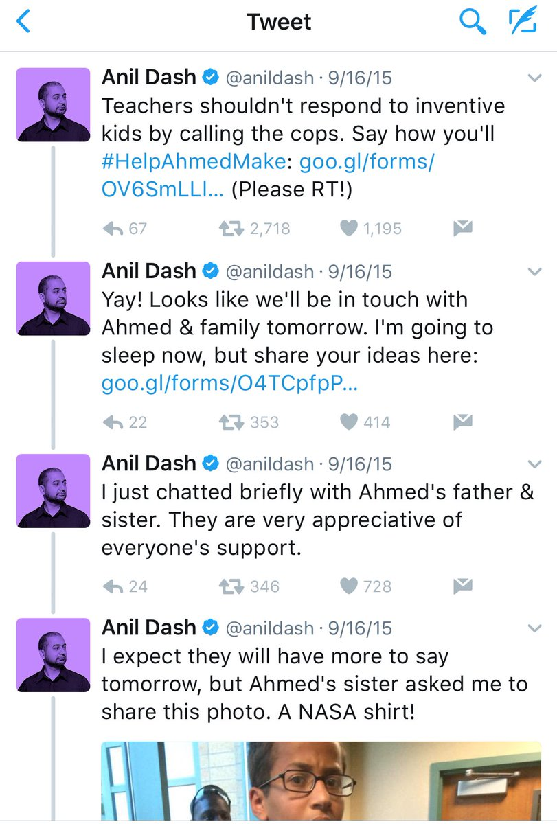 I just was told about when Kurt Eichenwald assumed the clock kid was Anil Dash's son and I'm losing it https://t.co/hpXkOboAaA