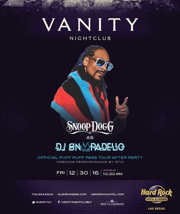 Closing the tour off rite. @puffpuffpasstour Goin into new year @VanityLV after party EVER… https://t.co/9TbdPyNISE https://t.co/LFFD5RrSaV