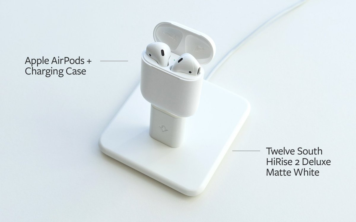 Hey Apple AirPod owners, our HiRise turns your charging case into a Charging Dock. Look: https://t.co/81oxBEwMUe https://t.co/UE3prqA9Wj