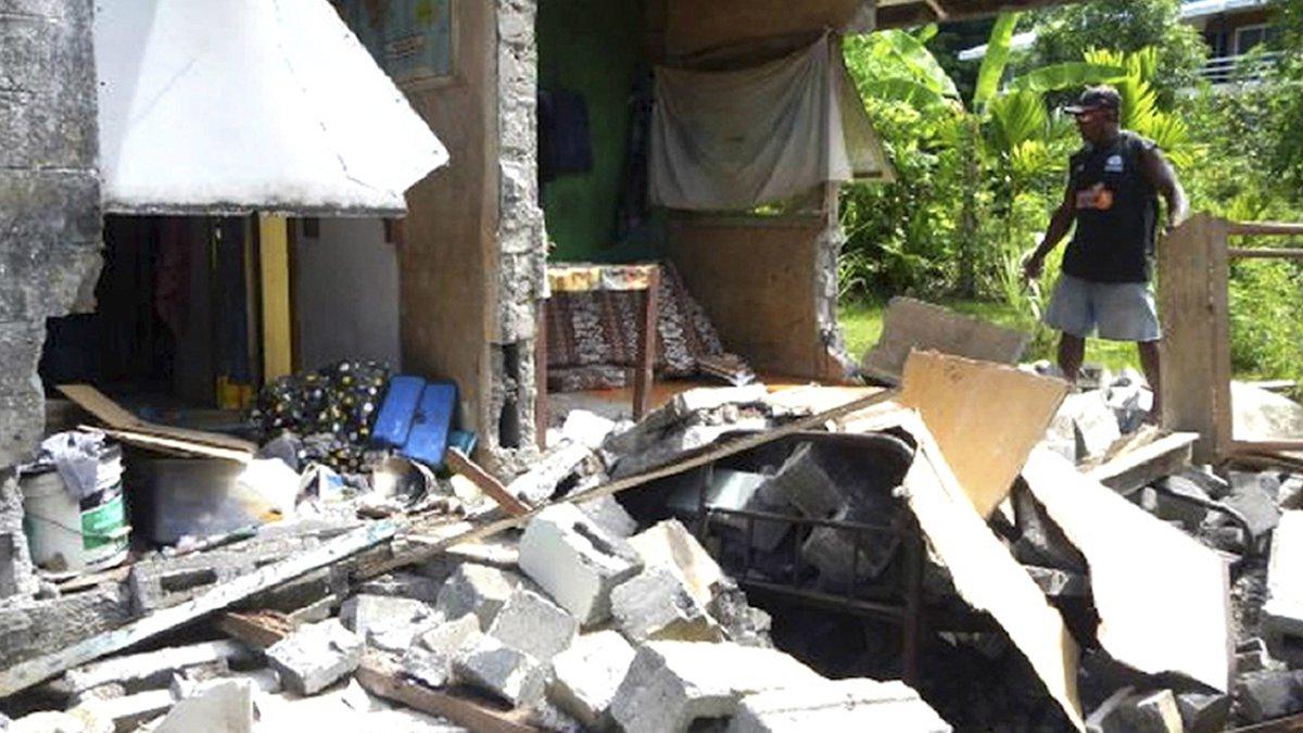 Strong quake strikes near Solomon Islands; no tsunami threat