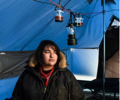 Standing Rock 'water protectors' dig in for the winter