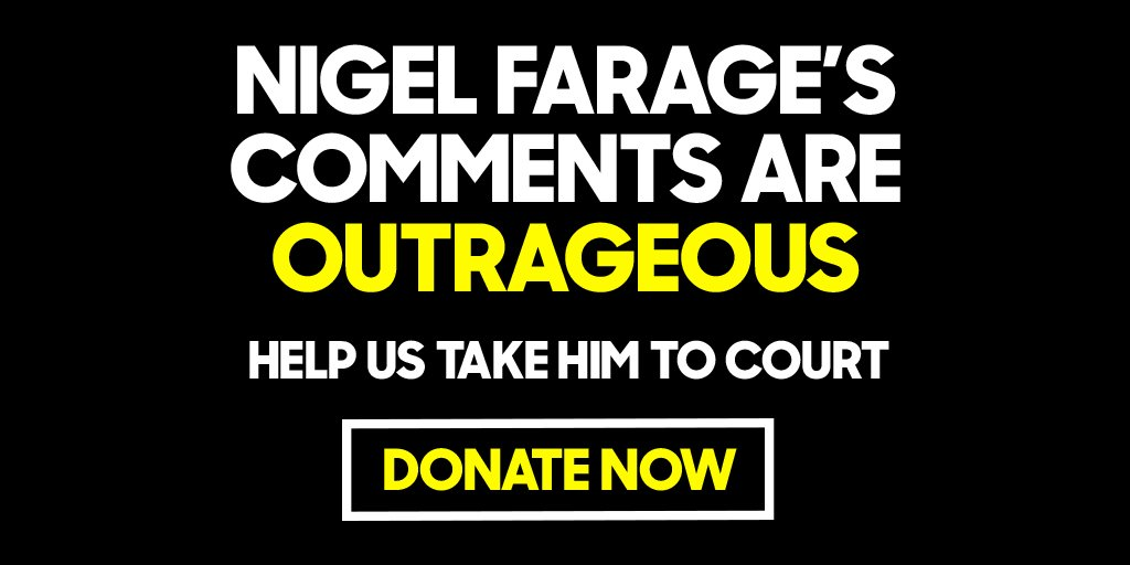 Donate to our legal fund and help challenge Farage's smears https://t.co/tHkB0htYee https://t.co/z5yM5lQvEY