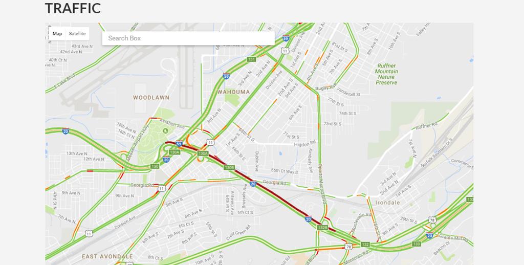 Traffic Jam Behind Overturned 18 Wheeler At Dead Man S Curve I 59