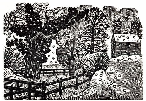 Considerable Falls of Snow by Eric Ravilious 1938 #Christmas https://t.co/6a9whkmVu3