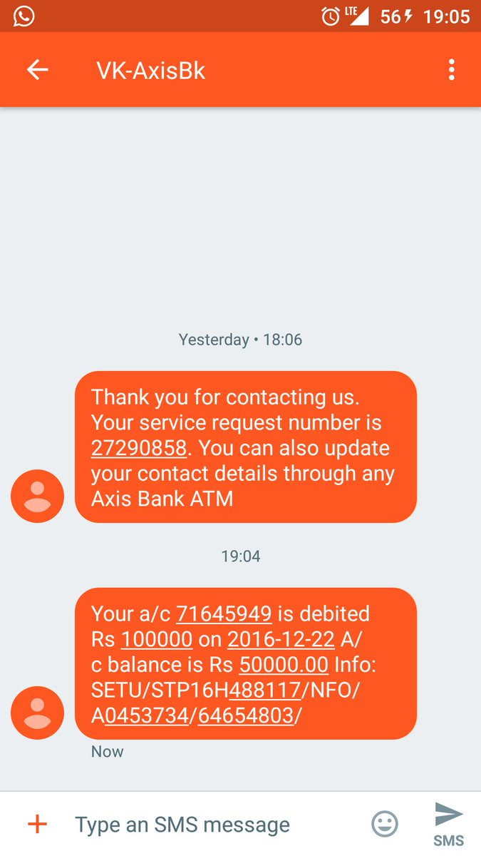 Hey @AxisBank @AxisBankSupport I don't have an account with you. What is this? Why am I getting these messages? https://t.co/MsDN5N5GuZ