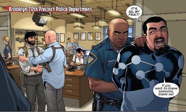 つまり、「コミックの世界の格好をしてるおかしなやつ(=コミックのあの格好をしてる奴らは変質者だ)」という皮肉はアルティメ