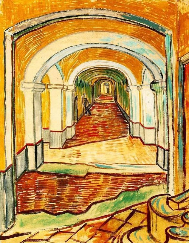 Couloir d'entrée de l'hôpital Saint-Paul ,Vincent van Gogh. https://t.co/qFkNuXj1v1