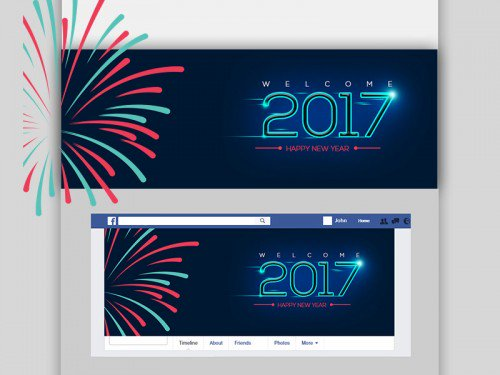 Happy New Year Facebook Cover Free PSD Graphics freepsd psd freebie download