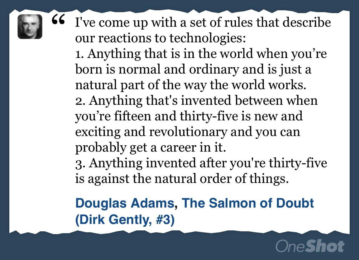 Douglas Adams was smart. https://t.co/tszZA09NOX