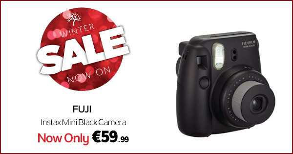 Treat yourself this Xmas with an Instax Instant Camera for just €59.99 https://t.co/sYtgzIs1eX #WinterSale https://t.co/fdkxcbgR5V