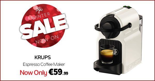 Make getting up after Christmas that little bit easier with Nespresso! #WinterSale https://t.co/X9vDqxtxZ5 https://t.co/JvLuf4XnHm