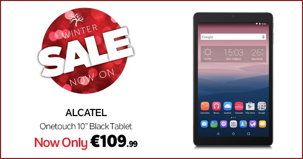 Treat yourself this festive season with the Alcatel Onetouch PIXI™ 3 Tablet!  https://t.co/xBWHyx8GkH #WinterSale https://t.co/PR579MWrpM