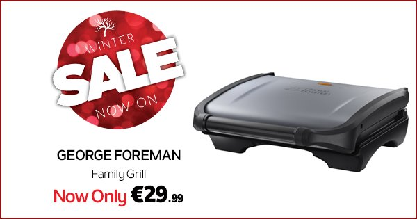Reduce the fat content of your meal by up to 42% with the George Foreman grill! https://t.co/b8mB7it7Q9 #WinterSale https://t.co/Ys526VmnaR