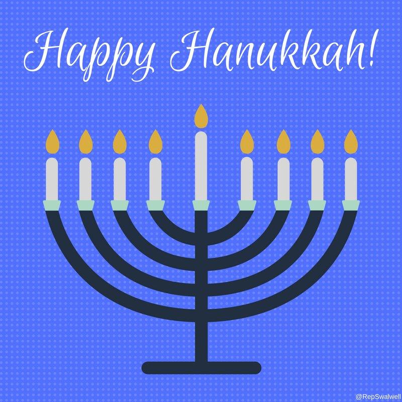 Wishing all my Jewish friends and neighbors a joyous Festival of Lights. https://t.co/ePnWF7KeX4