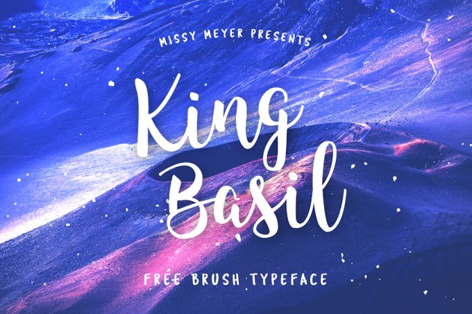 King Basil, Free Brush Font  font brush script free freebie